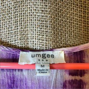 Umgee Pants - Umgee Romper Size M Purple Tie Die Long Sleeve